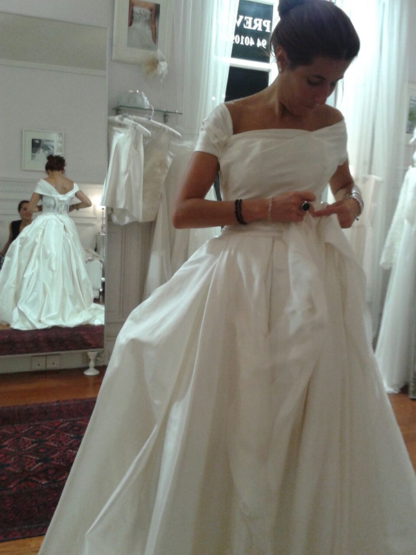 Ana una novia The bride en el atelier